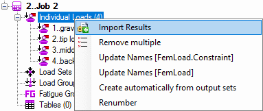 Import existing results from Femap