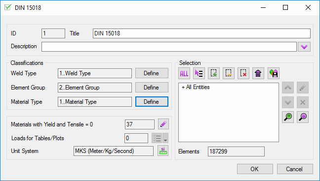 SDC Verifier Fatigue check according to DIN15018 standard