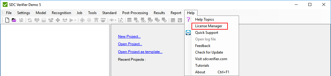 SDC Verifier Trial License Manager
