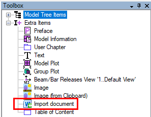 Import Word document into SDC Verifier report