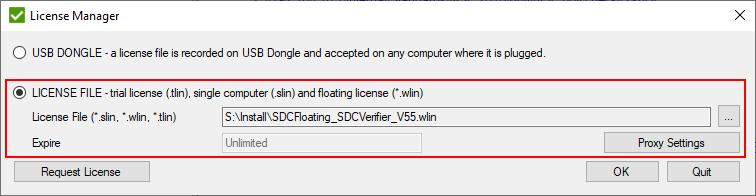 Floating License SDC Verifier