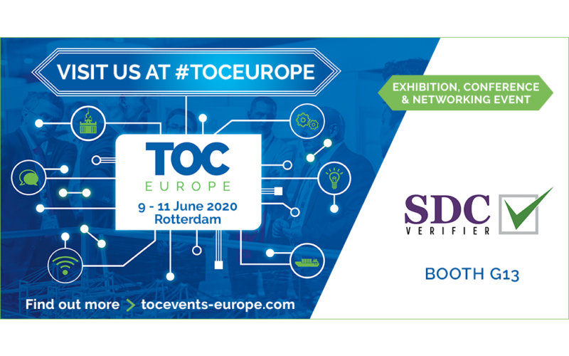 SDC VERIFIER will be exhibiting @ TOC Europe at booth G13