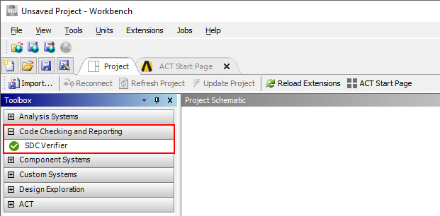 SDC Veifier in Ansys Worbench Toolbox