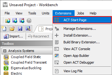 Load Ansys act extension SDC Verifier