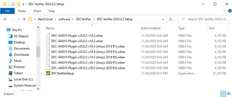 SDC Verifier Setup Folder